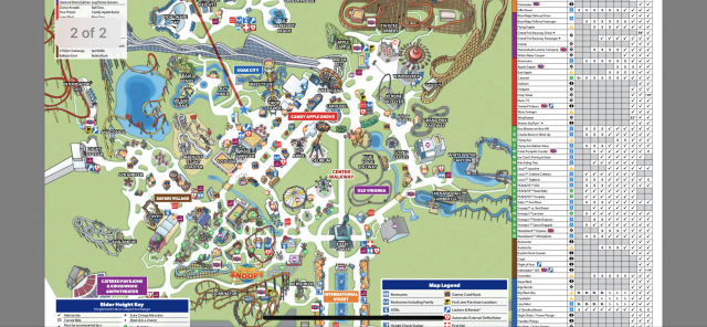 Kings Dominion Park Map 2020