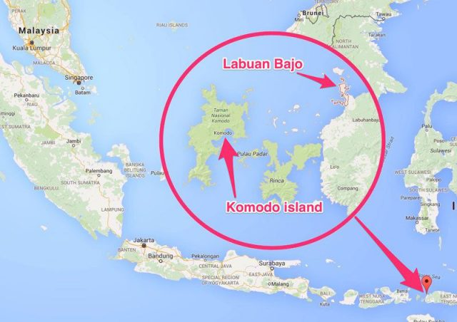 Komodo National Park Map