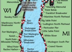 Lake michigan on map from lighthousefriends 9