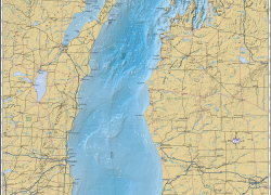 Lake michigan on map from mappingspecialists 4