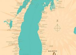 Lake michigan on map from muralsyourway 3