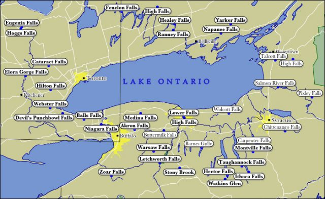Lake Ontario Map