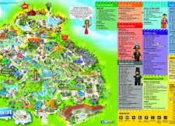 Legoland california map from br 6