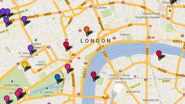 London tourist map from visitlondon 1