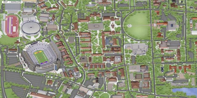 Lsu campus map from wafb 1