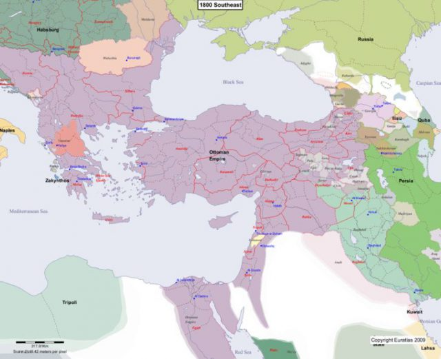 Map Of Europe 1800