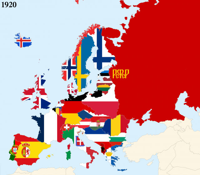 Map Of Europe 1920