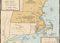 Map Of New England Colonies: Map of new england colonies from nationalgeographic 1