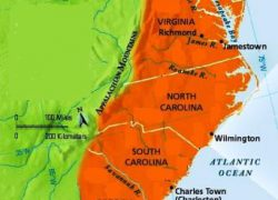 Map Of The Southern Colonies: Map of the southern colonies from landofthebrave 1