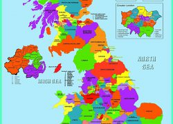Map Of Uk Counties: Map of uk counties from amazon 1
