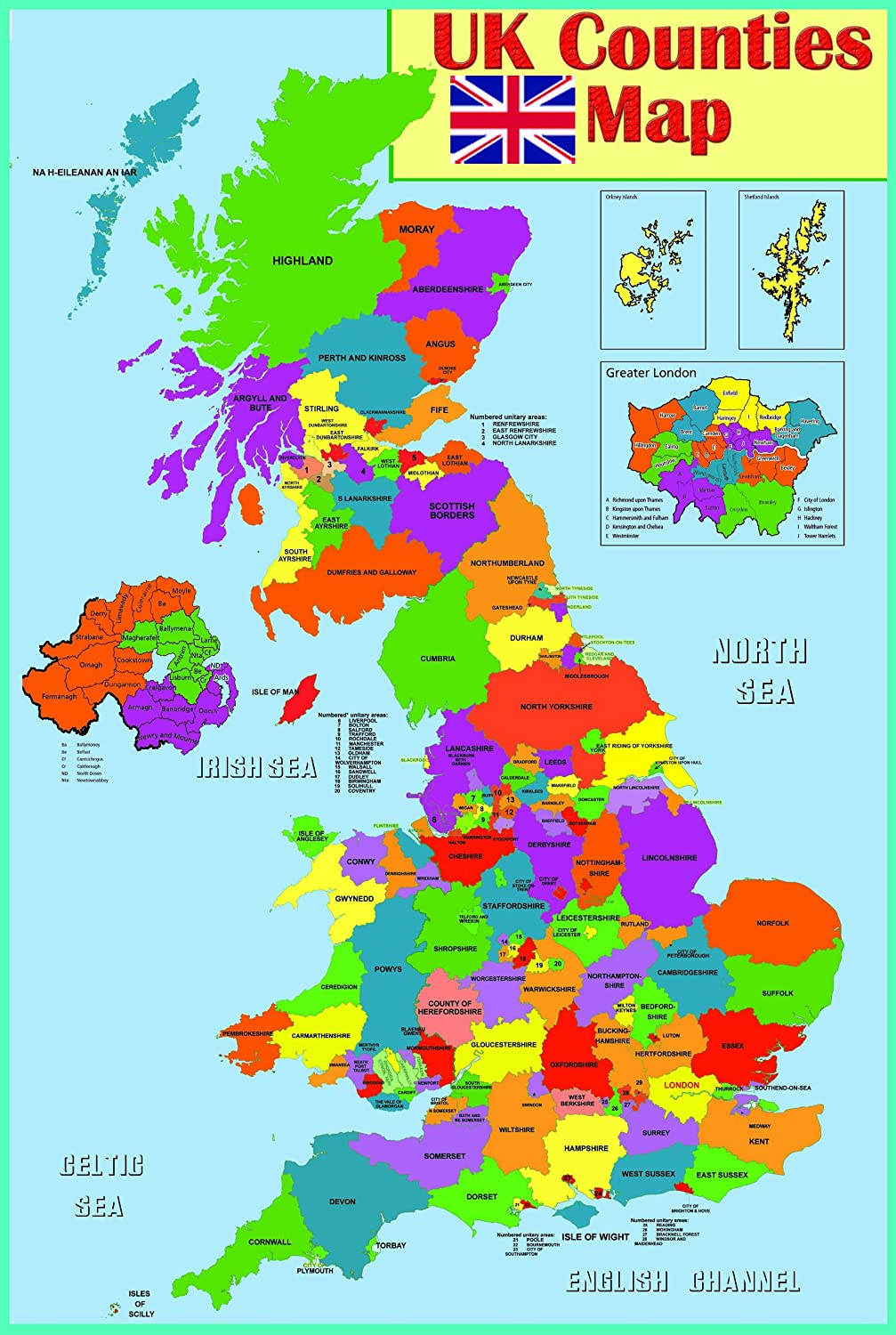 Map Of Uk Counties From Amazon 1