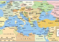 Mediterranean Map: Mediterranean map from nationsonline 2