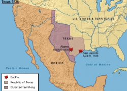 Mexican american war map from gorhistory 9
