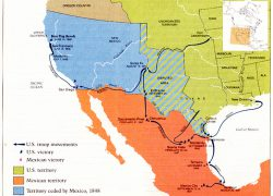 Mexican american war map from latinamericanstudies 2