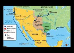 Mexican American War Map: Mexican american war map from youtube 1