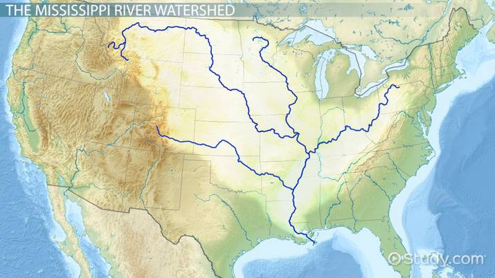 Missippi River Map From Study 6