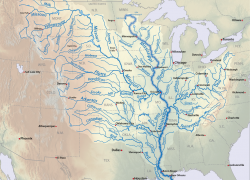 Mississippi River On Map: Mississippi river on map from americanrivers 3