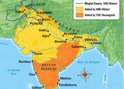 Mughal Empire Map: Mughal empire map from commons 1