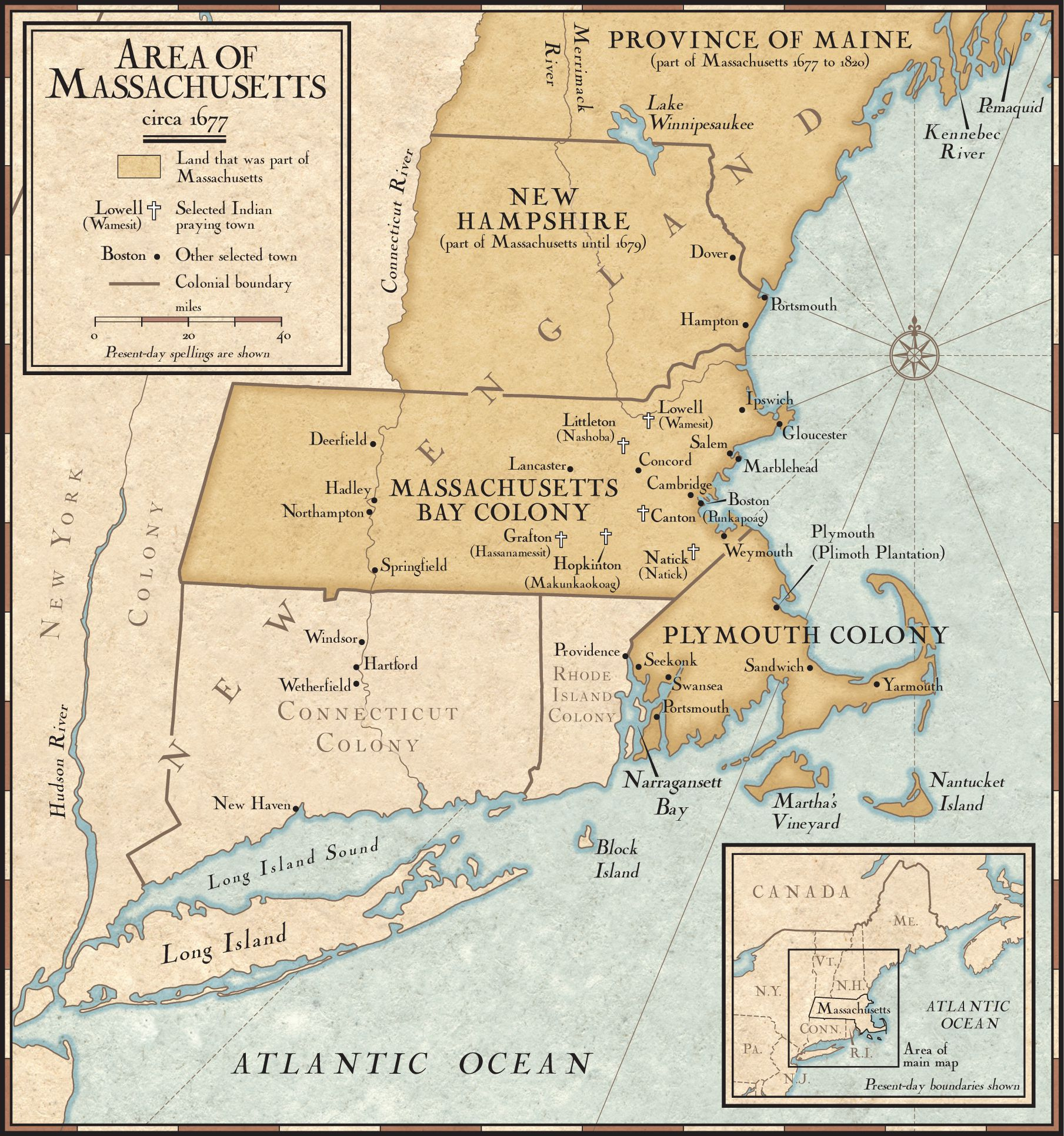 New England Colony Map From Nationalgeographic 1