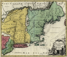 New England Colony Map