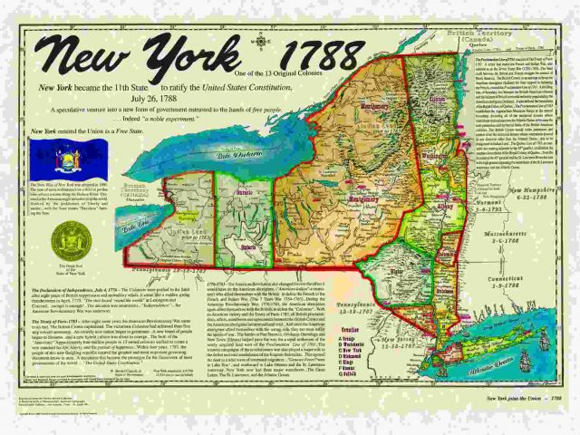 New York Colony Map