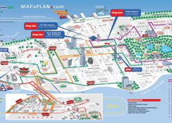 New york tourist map from mapaplan 10