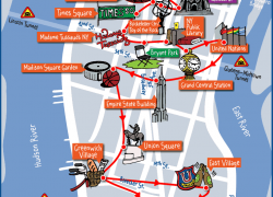 New york tourist map from nyctourist 2