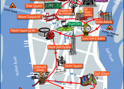 New york tourist map from pinterest 1
