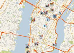 New york tourist map from travel 4