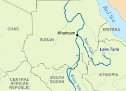 Nile River Map: Nile river map from en 1