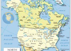 North America Political Map: North america political map from nationsonline 1