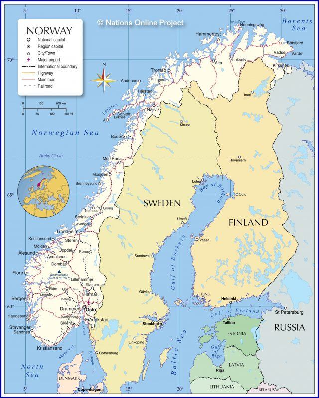 Norway map from nationsonline 1