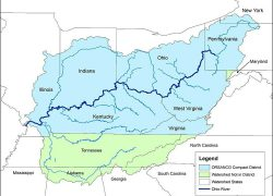 Ohio river map usa from pinterest 10