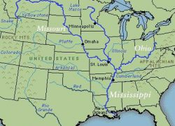 Ohio river map usa from pinterest 4