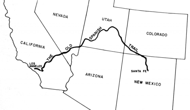 Old spanish trail map from wchsutah 2