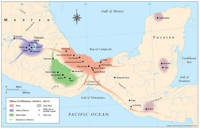 Olmec map from themaparchive 1