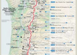 Pacific Crest Trail Map: Pacific crest trail map from pcta 1