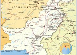 Pakistan Political Map: Pakistan political map from nationsonline 1