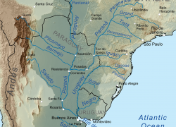 Parana River Map: Parana river map from en 1