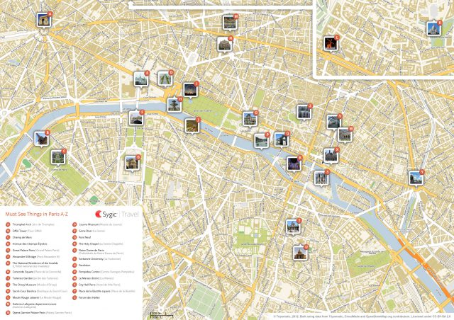 Paris Tourist Map