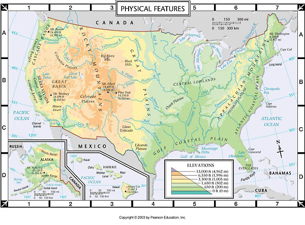 Physical Features Map
