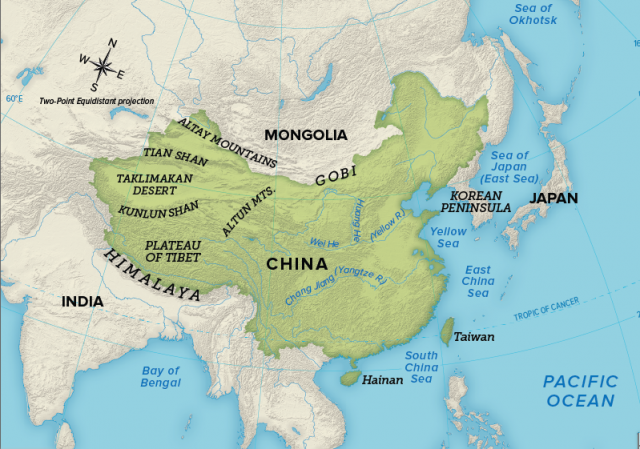 Physical Map Of Ancient China