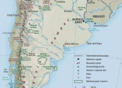 Physical Map Of Argentina: Physical map of argentina from geographicguide 1