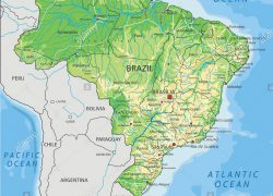 Physical map of brazil from alamy 7