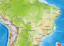 Physical map of brazil from maphill 5