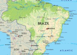 Physical map of brazil from mapsland 2