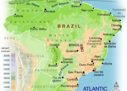 Physical map of brazil from pinterest 9