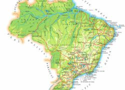 Physical map of brazil from vidiani 3