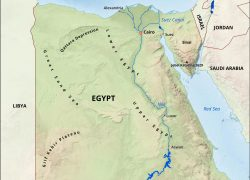 Physical map of egypt from ghdjplancha 7