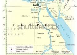 Physical map of egypt from shutterstock 8